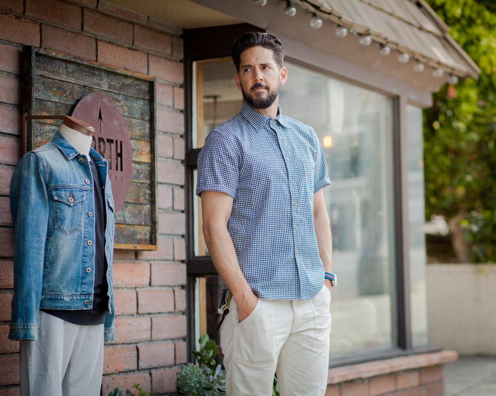 Lifestyle blogger Devin McGovern of Outlined Cloth features North Menswear for the summer