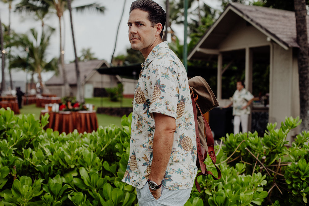 History of the Aloha shirt worn by Outlined Cloth - Hawaiian shirt by Freenote Cloth https://freenotecloth.com/collections/mariner/products/hawaiian-pineapple-white