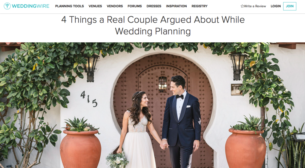 WeddingWire x Outlined Cloth 4 Things a Real Couple Argued About While Wedding Planning