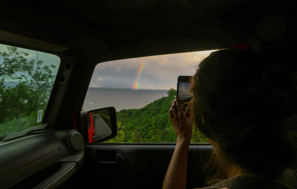 Top 5 Instagram Photo Stops Road to Hana Rainbow