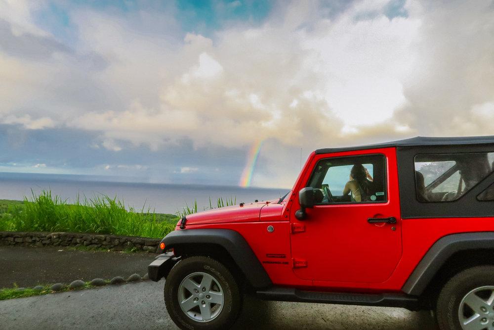Top 5 Instagram Photo Stops Road to Hana Rainbow