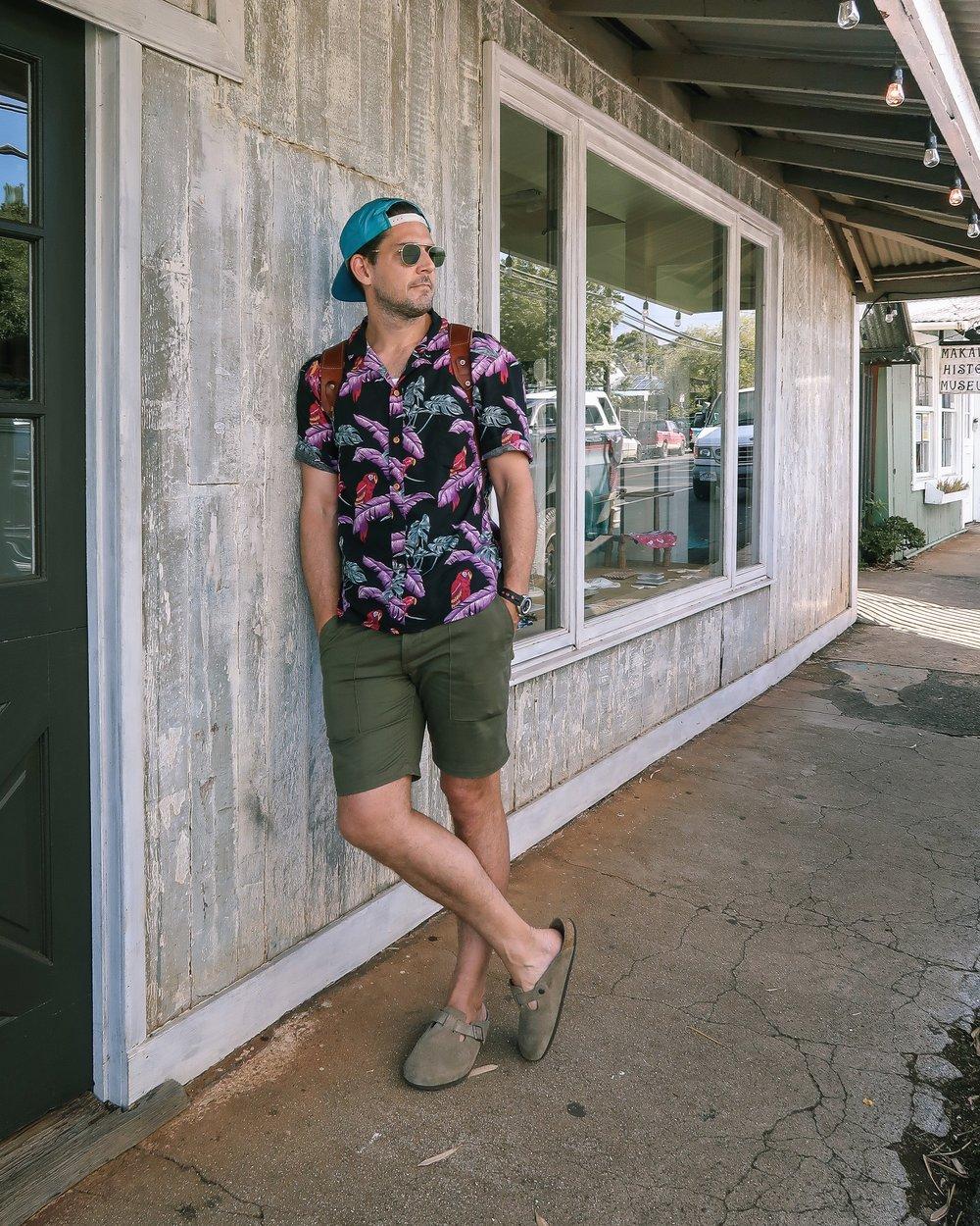 Outlined Cloth Aloha Shirt in Makawao, Hawaii. The History of the Aloha Shirt