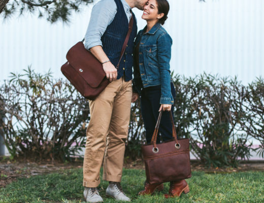 Lifestyle blogger Devin McGovern and wife Marlene Martinez of Outlined Cloth team with Buffalo Jackson for the release of their new women's bags