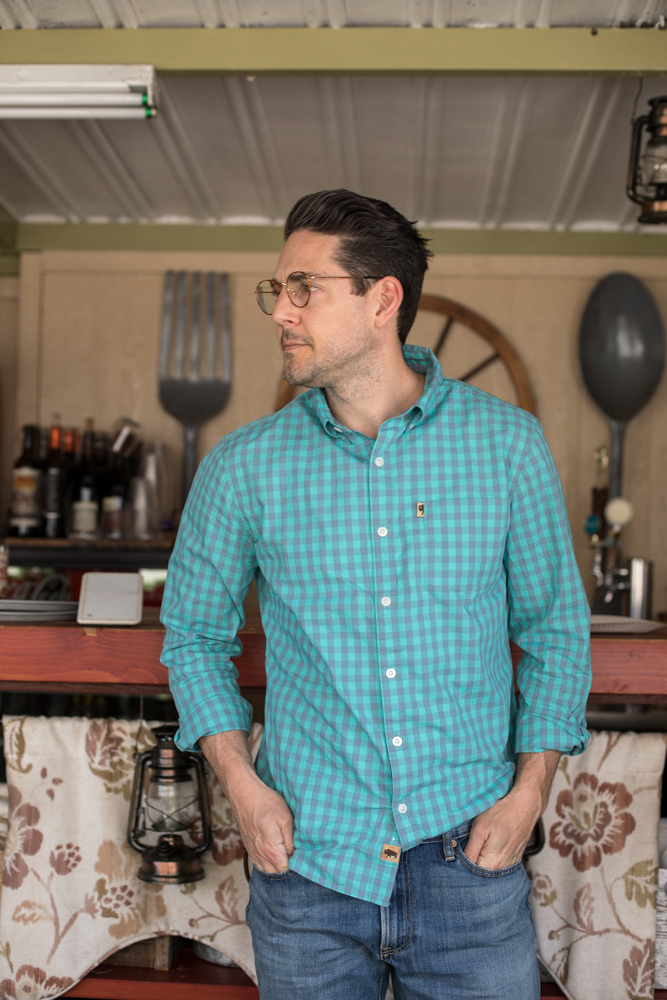 Lifestyle blogger Devin McGovern of Outlined Cloth takes a stroll in Long Beach with Buffalo Jackson