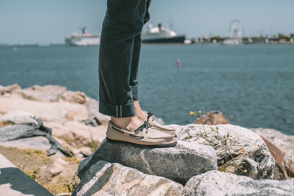 Lifestyle blogger Devin McGovern of Outlined Cloth shares summer tips with at Sperry shoes