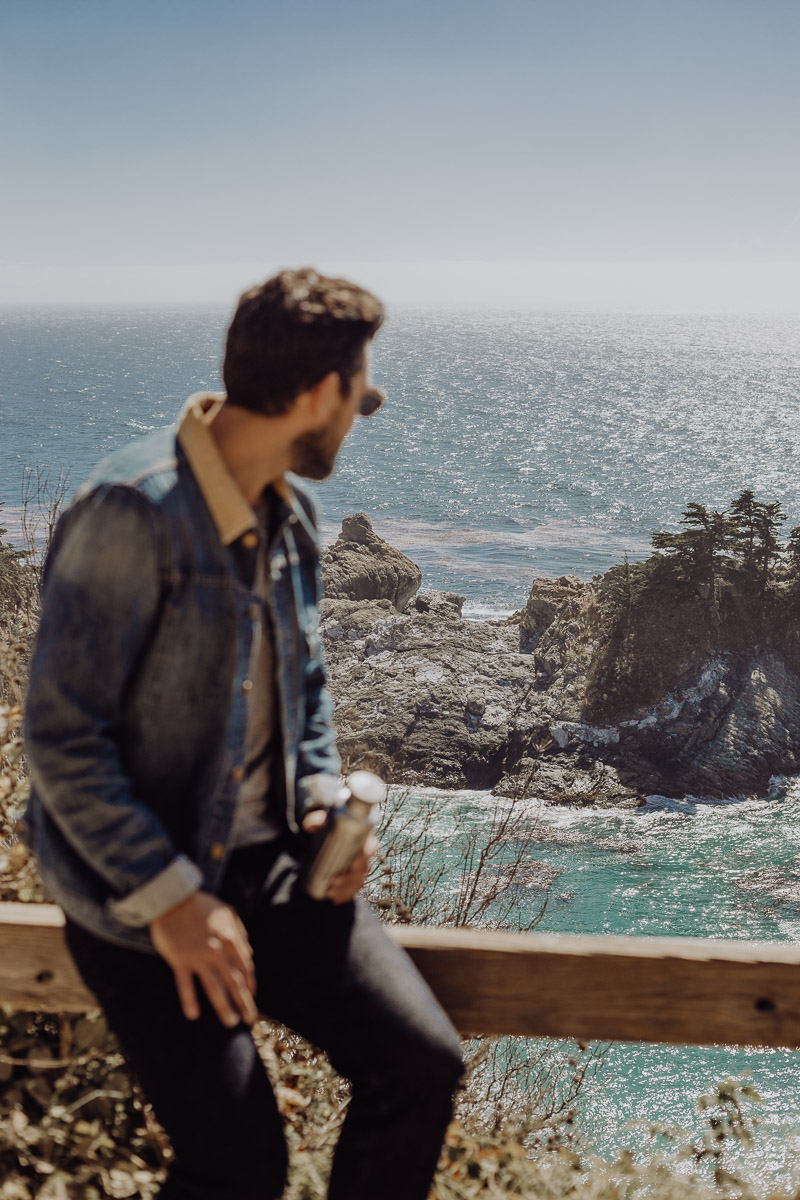 Lifestyle bloggers Devin and Marlene of Outlined Cloth explore McWay Falls